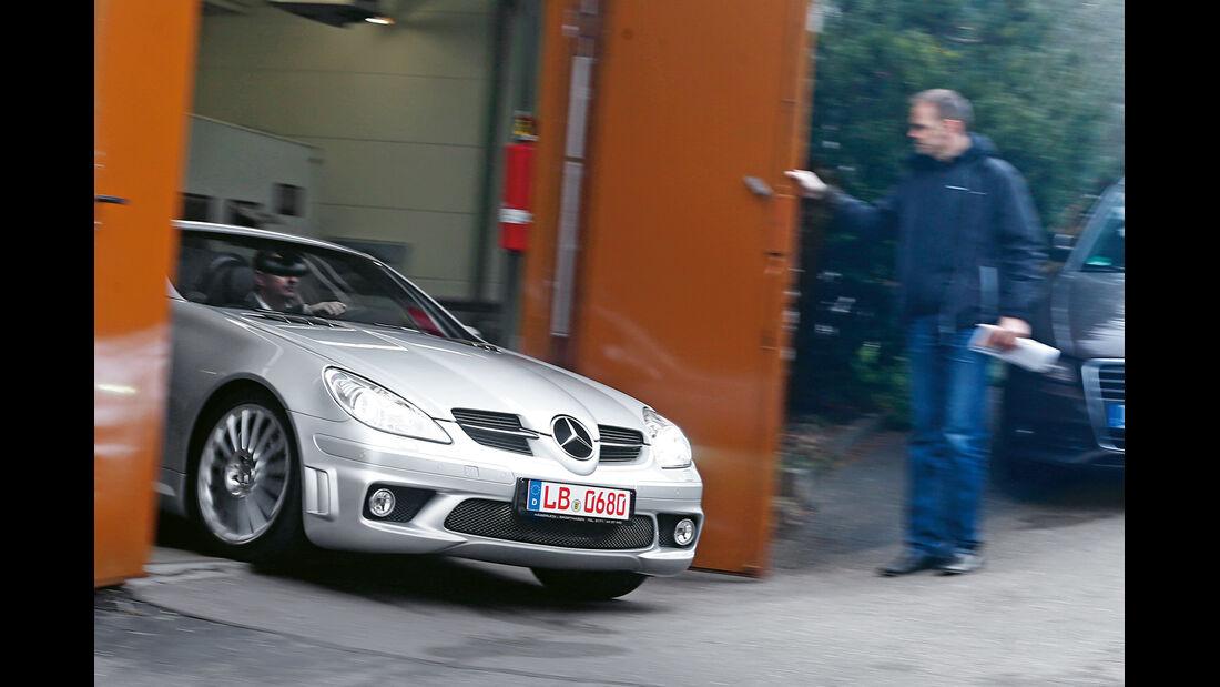 Mercedes SLK 55 AMG, Motorhaube