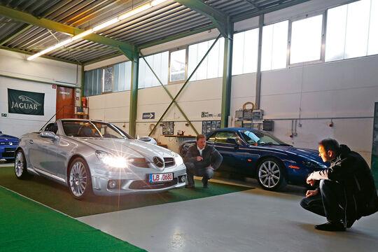 Mercedes SLK 55 AMG, Showroom