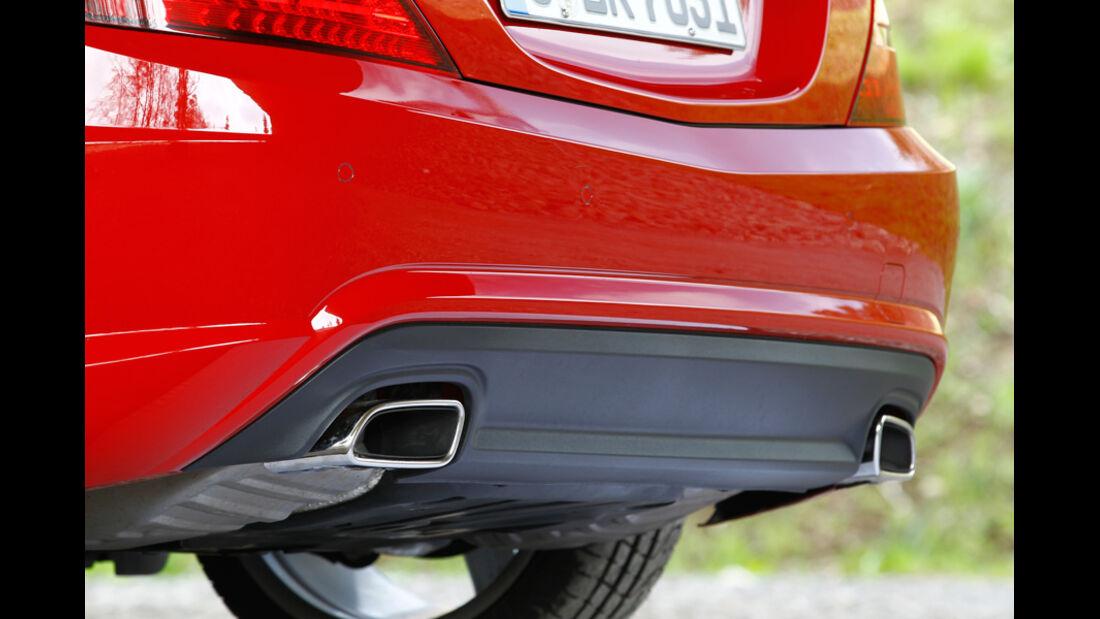 Mercedes SLK BlueEFFICIENCY, Auspuffanlage, Heck