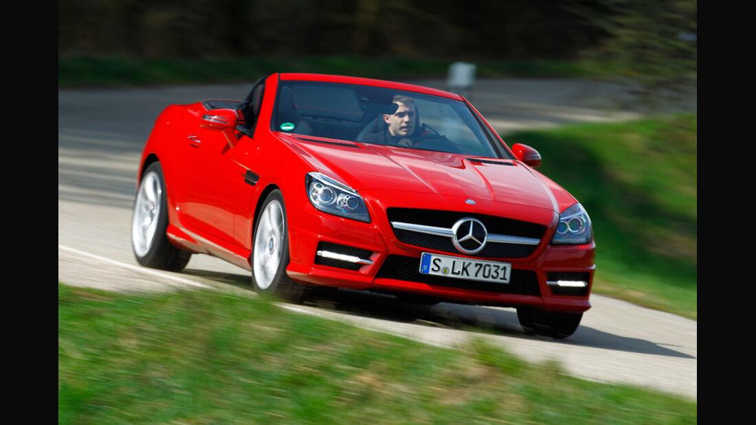 Mercedes SLK BlueEFFICIENCY, Frontansicht, Ausfahrt