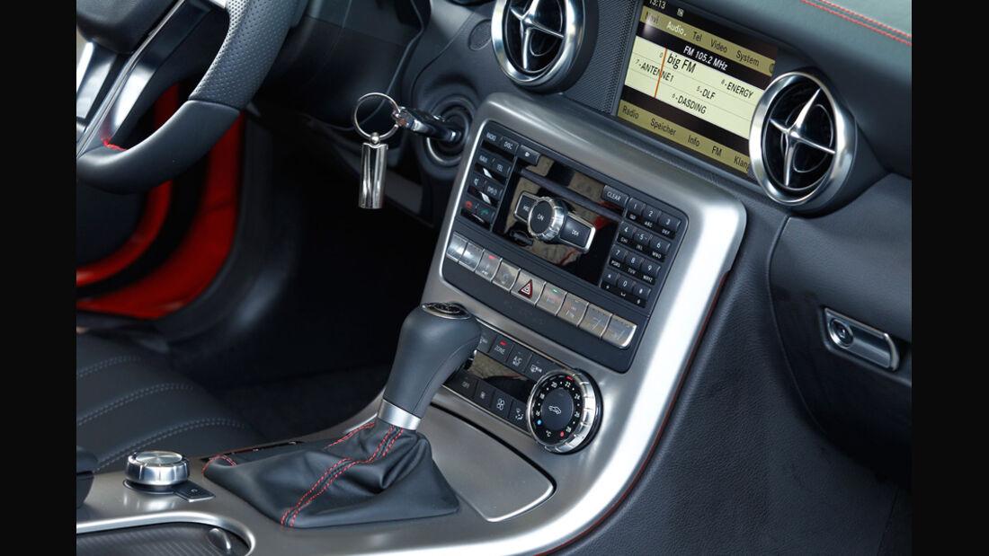 Mercedes SLK BlueEFFICIENCY, Mittelkonsole, Schalthebel