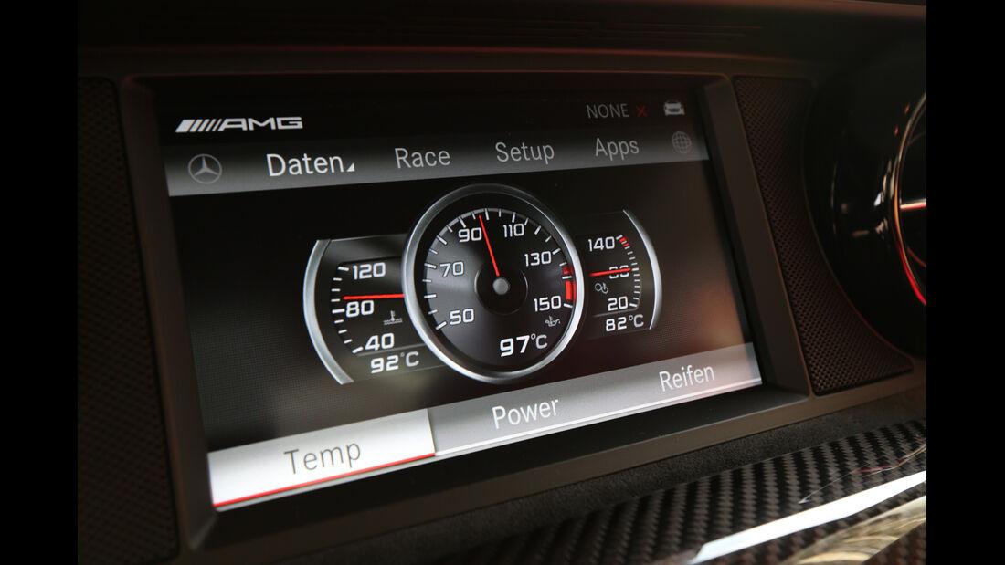 Mercedes SLS AMG Black Series, Anzeige, Display