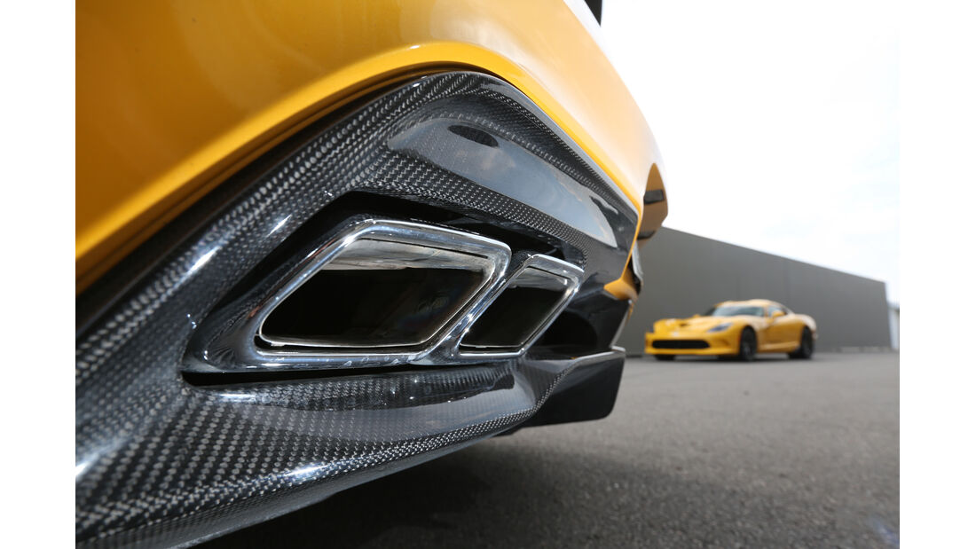 Mercedes SLS AMG Black Series, Auspuff, Endrohr