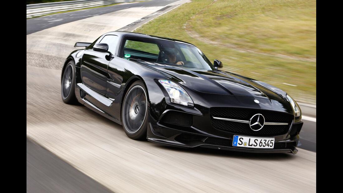 Mercedes SLS AMG Black Series, Frontansicht, Kurvenfahrt