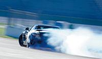 Mercedes SLS AMG Black Series, Heckansicht, Driften