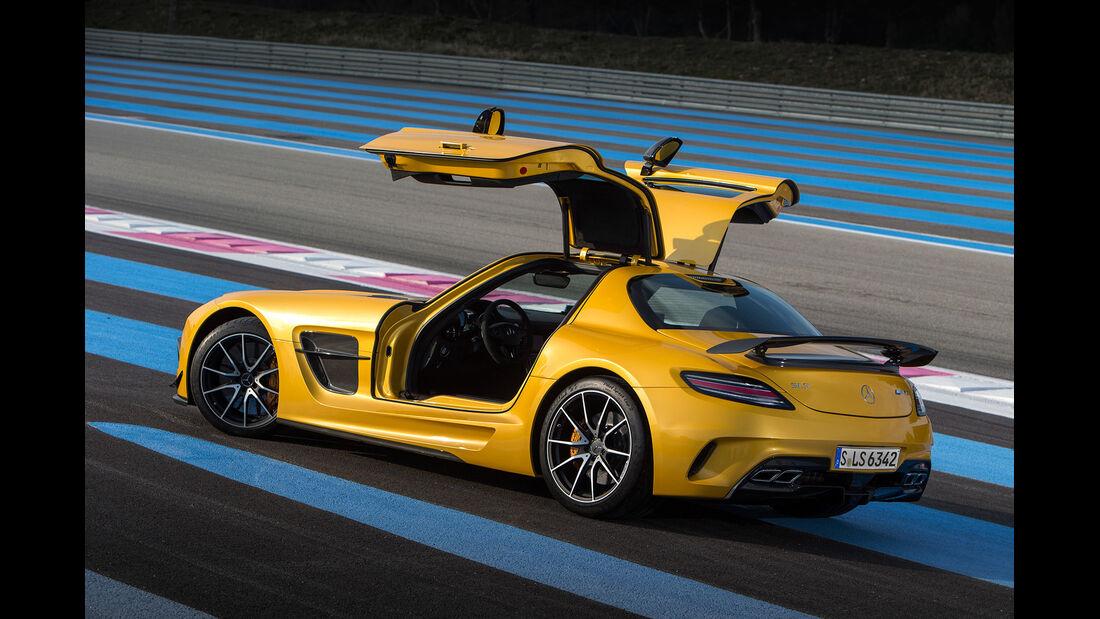Mercedes SLS AMG Black Series, Heckansicht, Flügeltüren