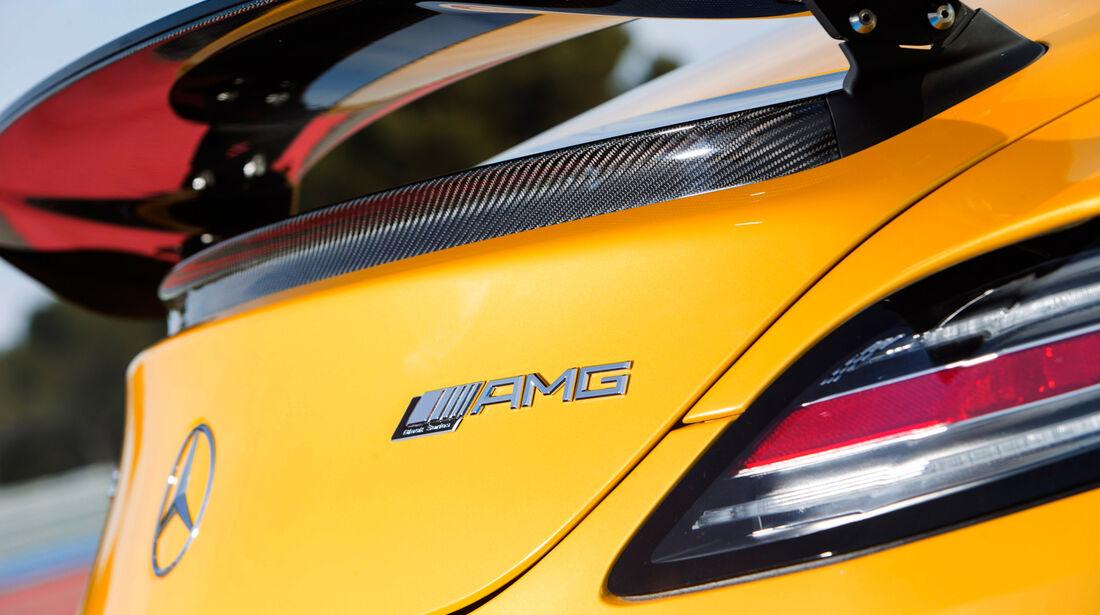 Mercedes SLS AMG Black Series, Heckspoiler, Heckschürze, Typenbezeichnung