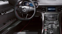 Mercedes SLS AMG Black Series, Innenraum, Cockpit, Lenkrad