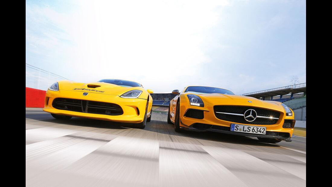 Mercedes SLS AMG Black Series, SRT Viper, Frontansicht