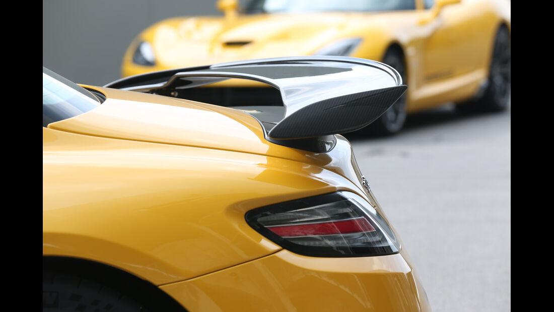 Mercedes SLS AMG Black Series, SRT Viper, Heckspoiler
