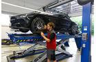 Mercedes SLS AMG Black Series, Seitenansicht, Hebebühne