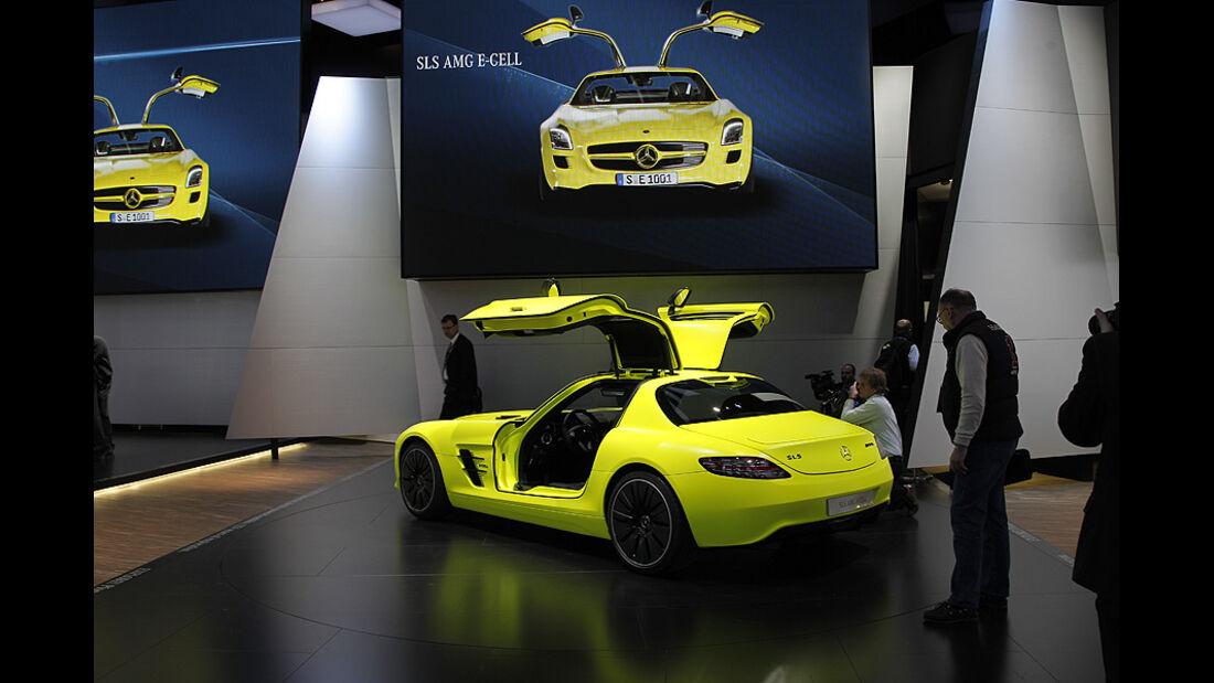 Mercedes SLS AMG E-Cell, Detroit Motor Show, Rundgang