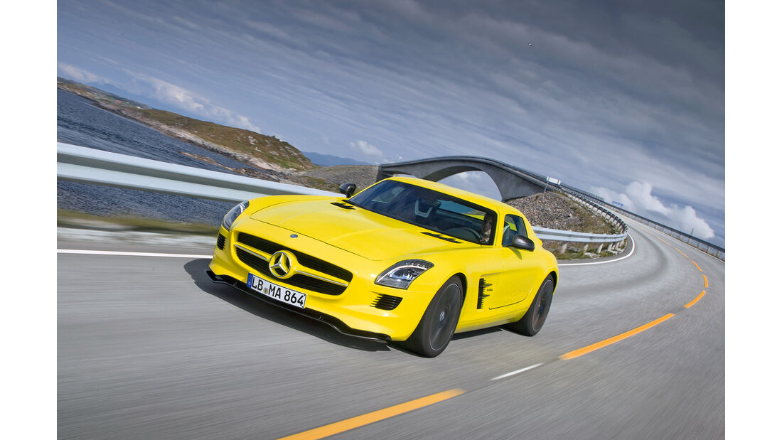 Mercedes SLS AMG E-Cell, Frontansicht