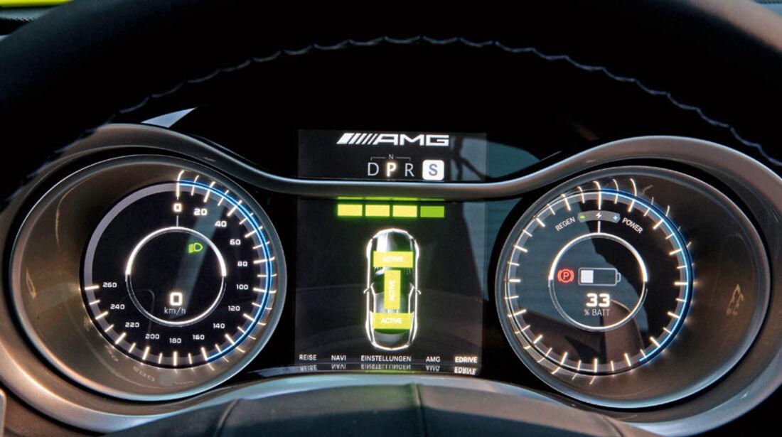 Mercedes SLS AMG E-Cell, Instrumente