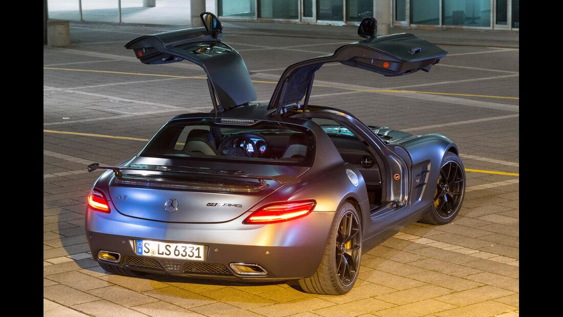 Mercedes SLS AMG GT Final Edition, Flügeltüren, Heckansicht