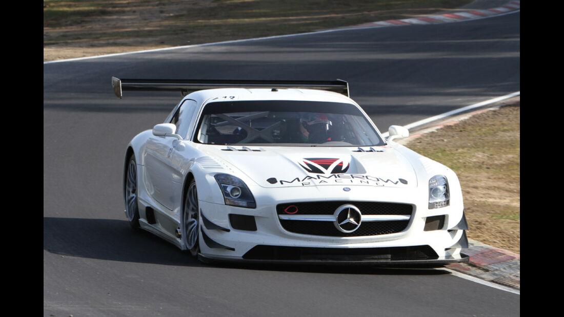 Mercedes SLS AMG GT3, Mamerow Racing, Rennwagen, Nürburgring