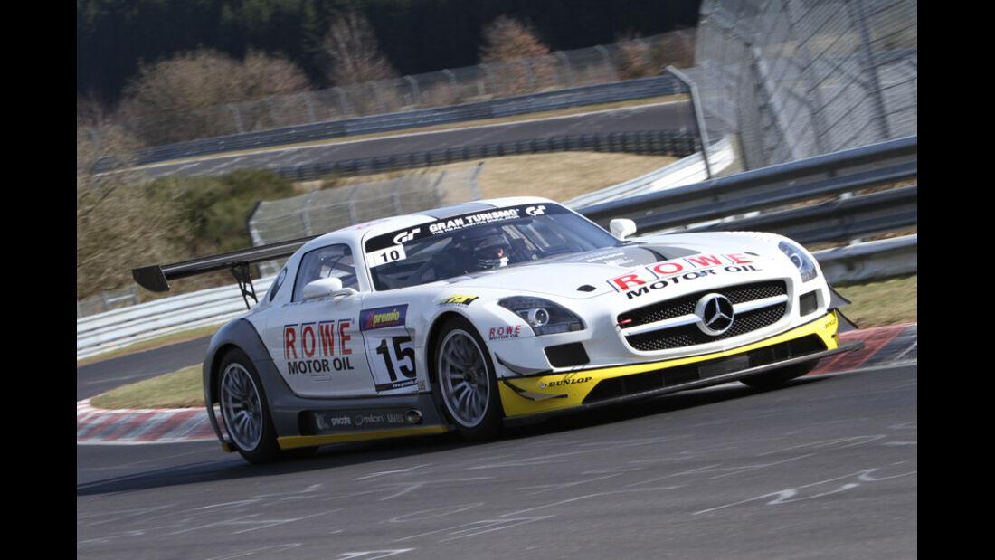Mercedes SLS AMG GT3, ROWE Racing, Rennwagen, Nürburgring