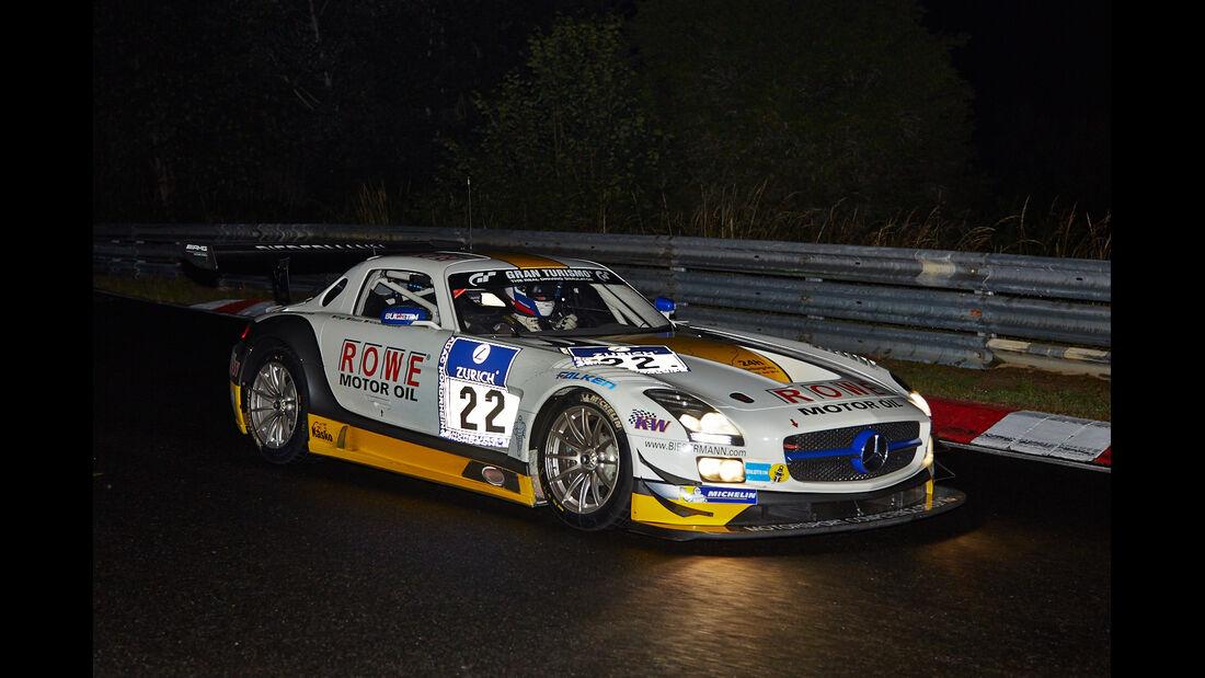 Mercedes SLS AMG GT3 - Rowe Racing - #22 - 24h-Rennen Nürburgring 2014 - Qualifikation 1