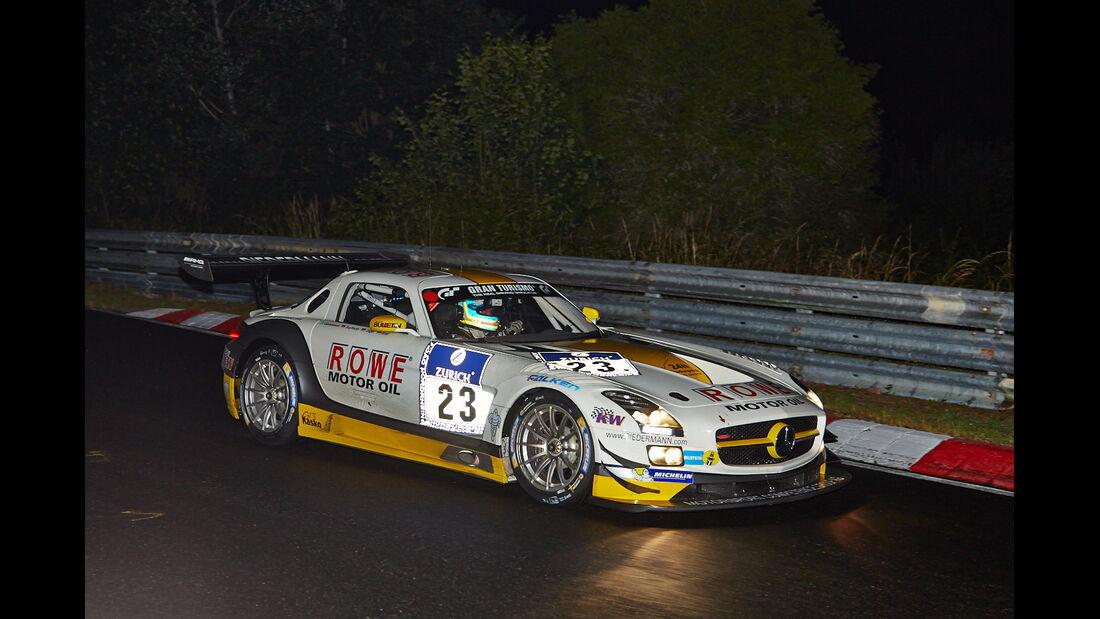 Mercedes SLS AMG GT3 - Rowe Racing - #23 - 24h-Rennen Nürburgring 2014 - Qualifikation 1