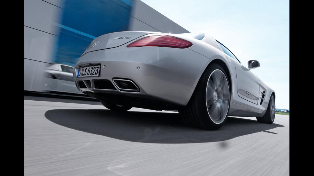 Mercedes SLS AMG, Heck, RŸckansicht