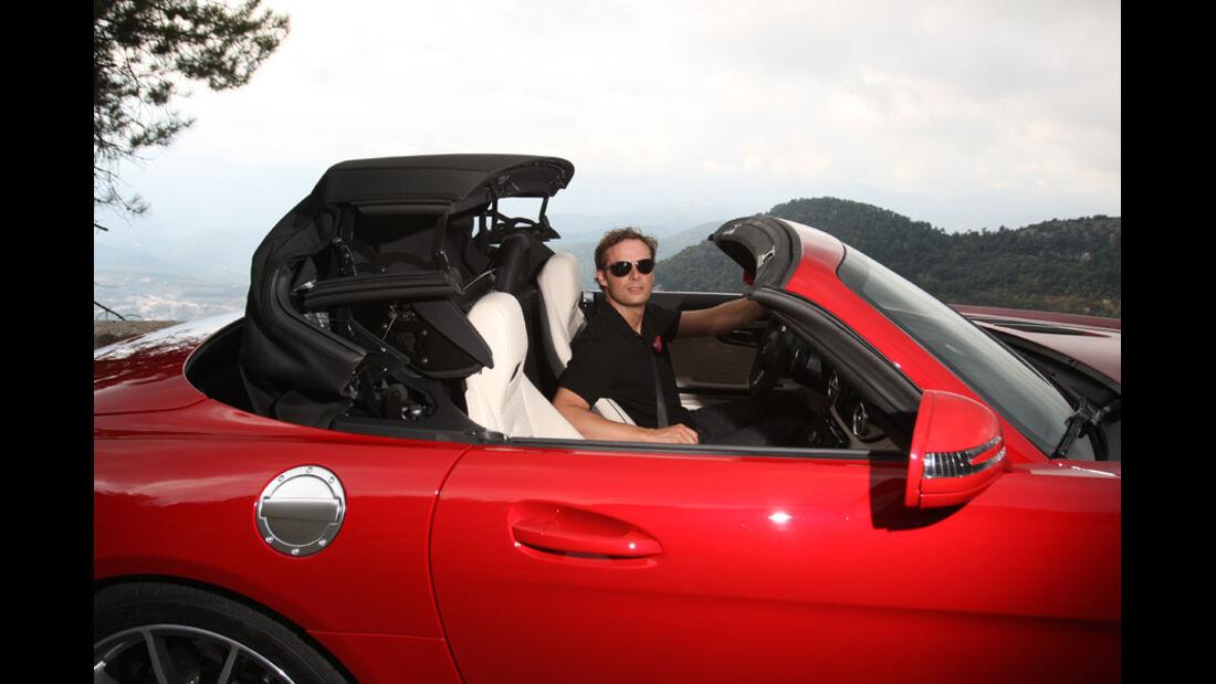 Mercedes SLS AMG Roadster, offenes Dach