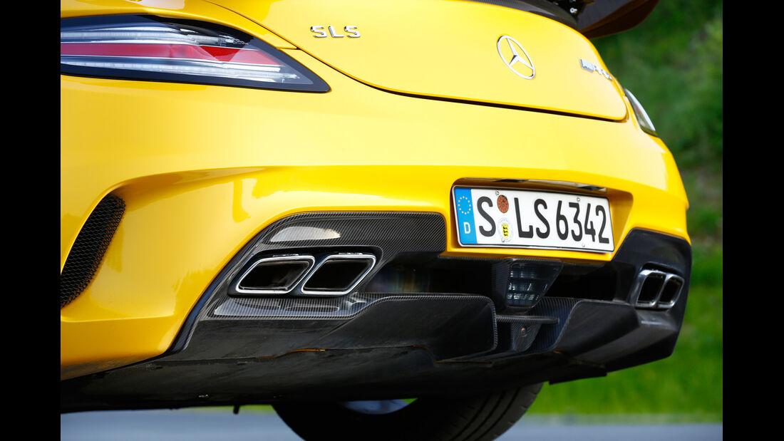 Mercedes SLS Black Series, Endrohr, Auspuff