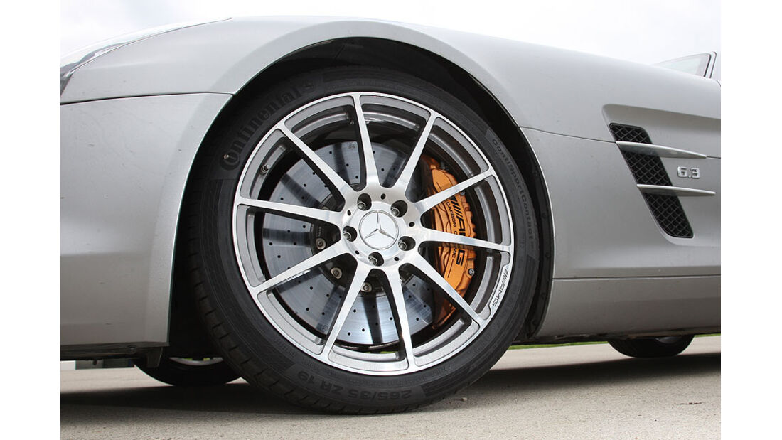 Mercedes SLS, Felge, Bremse