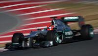 Mercedes Schumacher F1 Test 2012 Barcelona