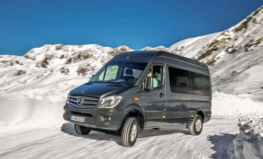 Mercedes Sprinter 4x4 MY 2013 im Winter-Test