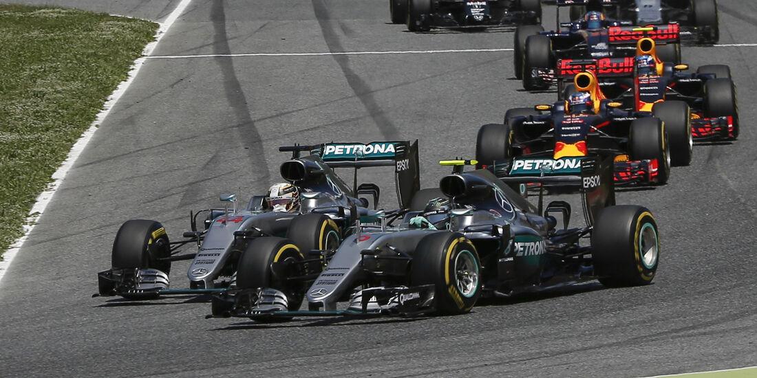 Mercedes - Start - GP Spanien 2016