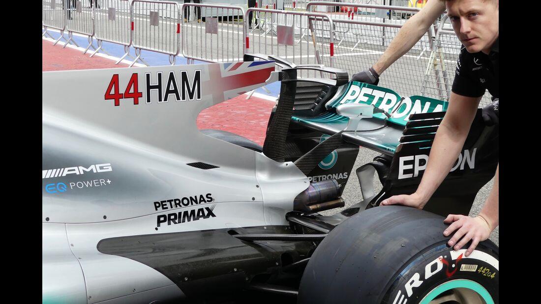 Mercedes - Startnummern - Formel 1 - GP Spanien - 11. Mai 2017