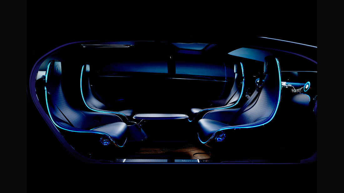 Mercedes Studie Autonomes Fahren Innenraum