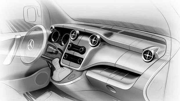 Mercedes T-Klasse Innenraum Teaser