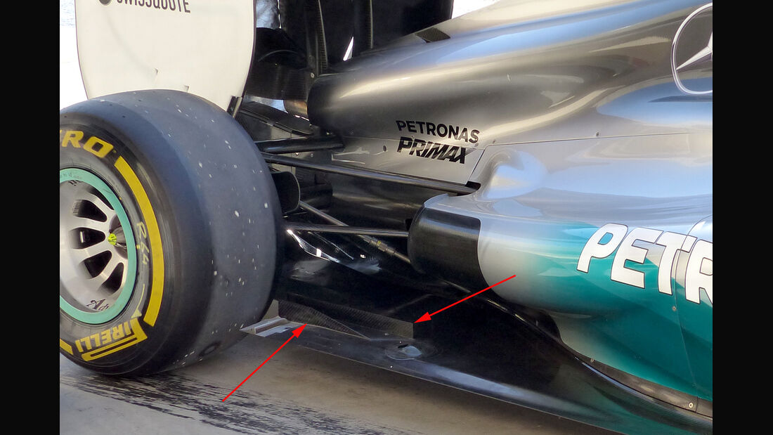 Mercedes - Technik - Bahrain Test 2 - 2014
