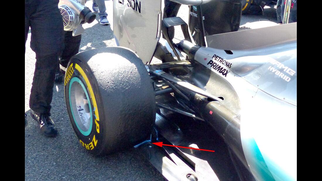 Mercedes - Technik - GP Belgien 2015