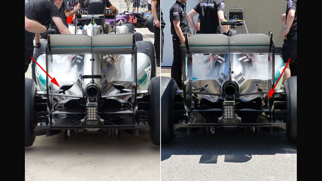 Mercedes - Technik - GP Mexiko / GP USA - 2015