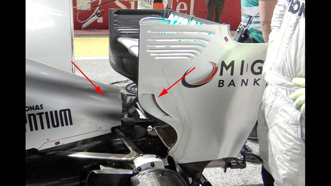 Mercedes - Technik - GP Singapur 2013