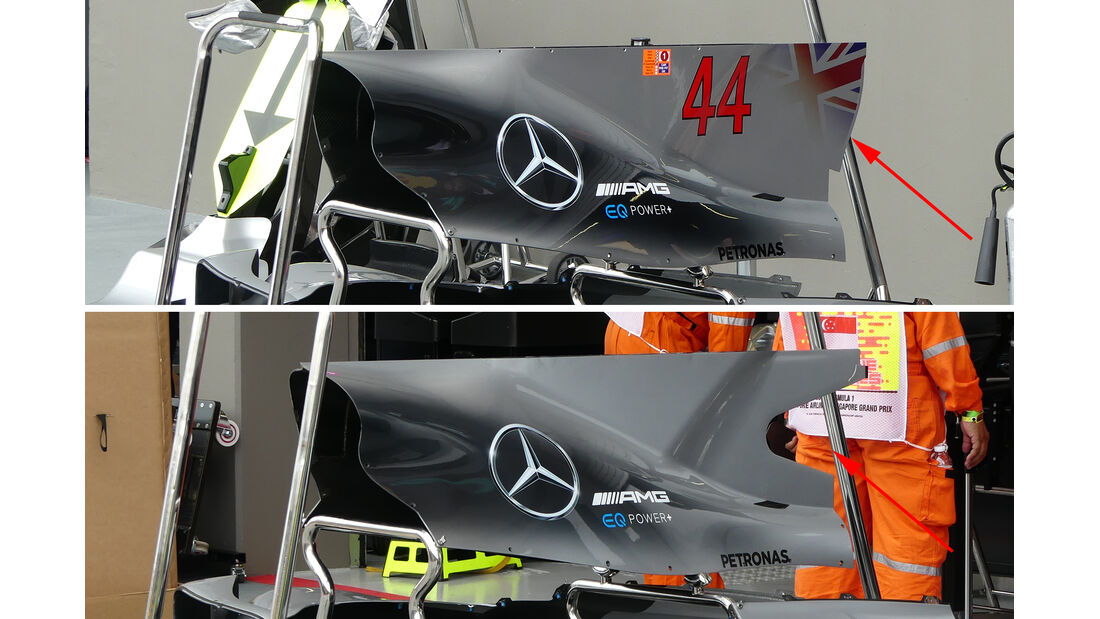 Mercedes - Technik - GP Singapur 2017