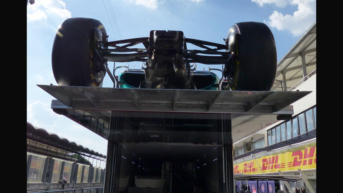 Mercedes - Technik - GP Ungarn 2015