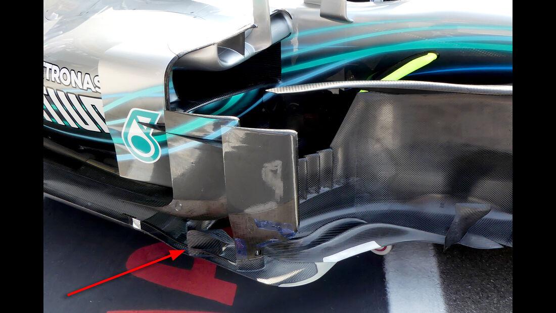 Mercedes - Technik - Upgrades - GP Belgien / GP Italien 2018