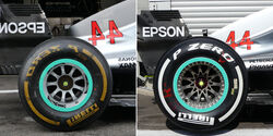Mercedes - Technik - Upgrades - GP Belgien / GP Italien 2018