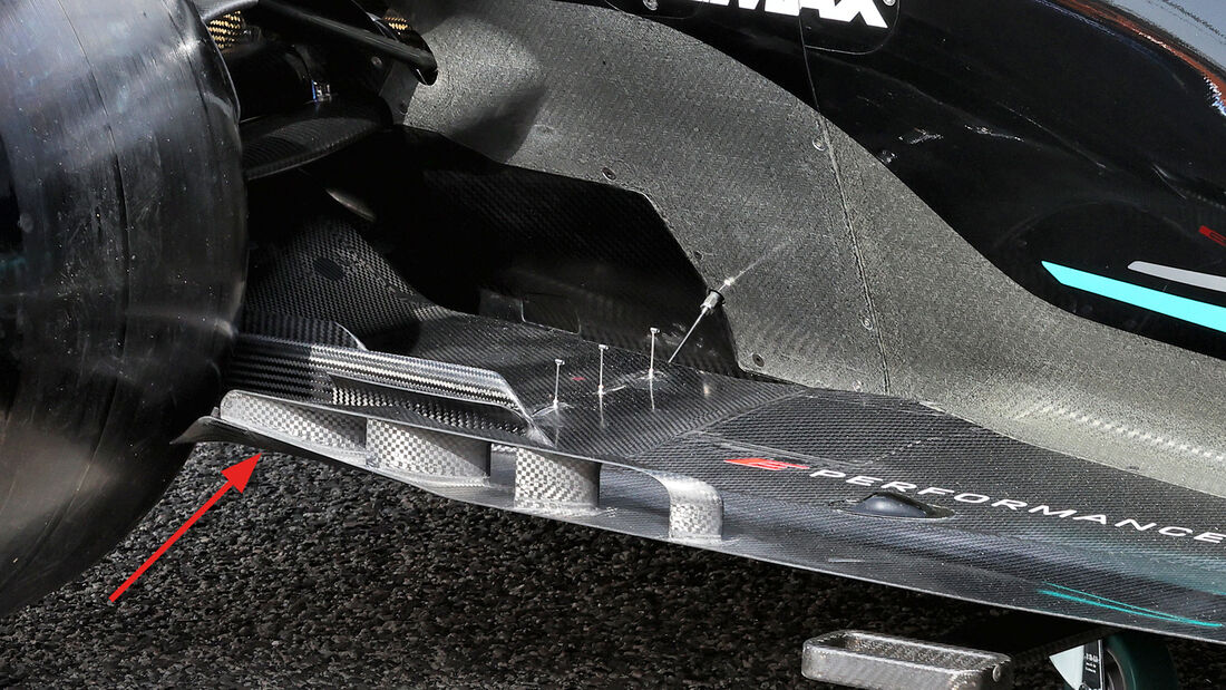 Mercedes - Unterboden - F1-Test - Bahrain - 2021