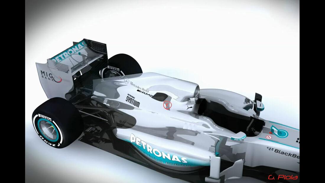 Mercedes - Update GP Deutschland 2013 - Piola Technik