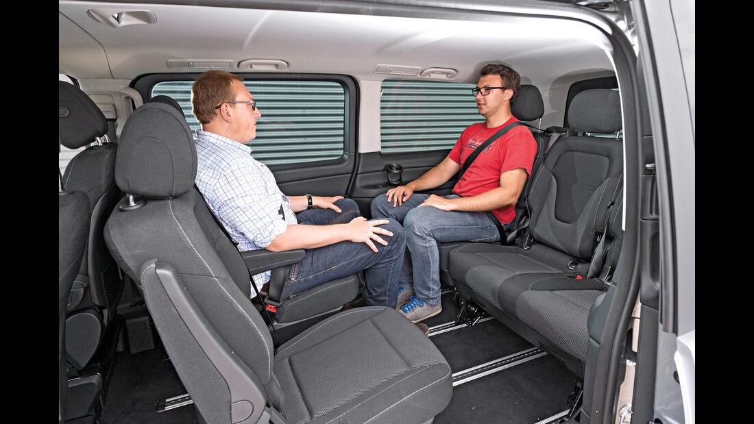 Mercedes V 220 d, Innenraum
