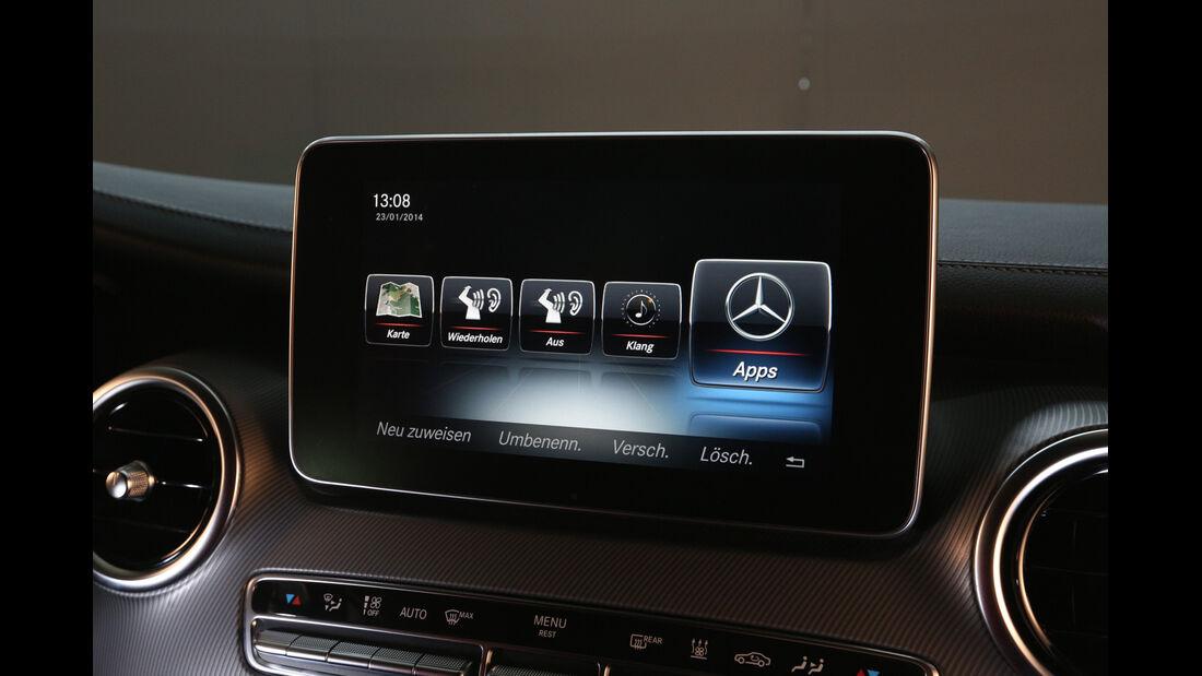 Mercedes V 250 Bluetec, Bildschirm, Infotainment