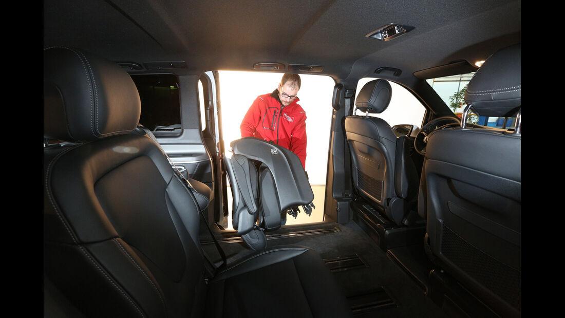 Mercedes V 250 Bluetec, Sitze, Herausnehmen