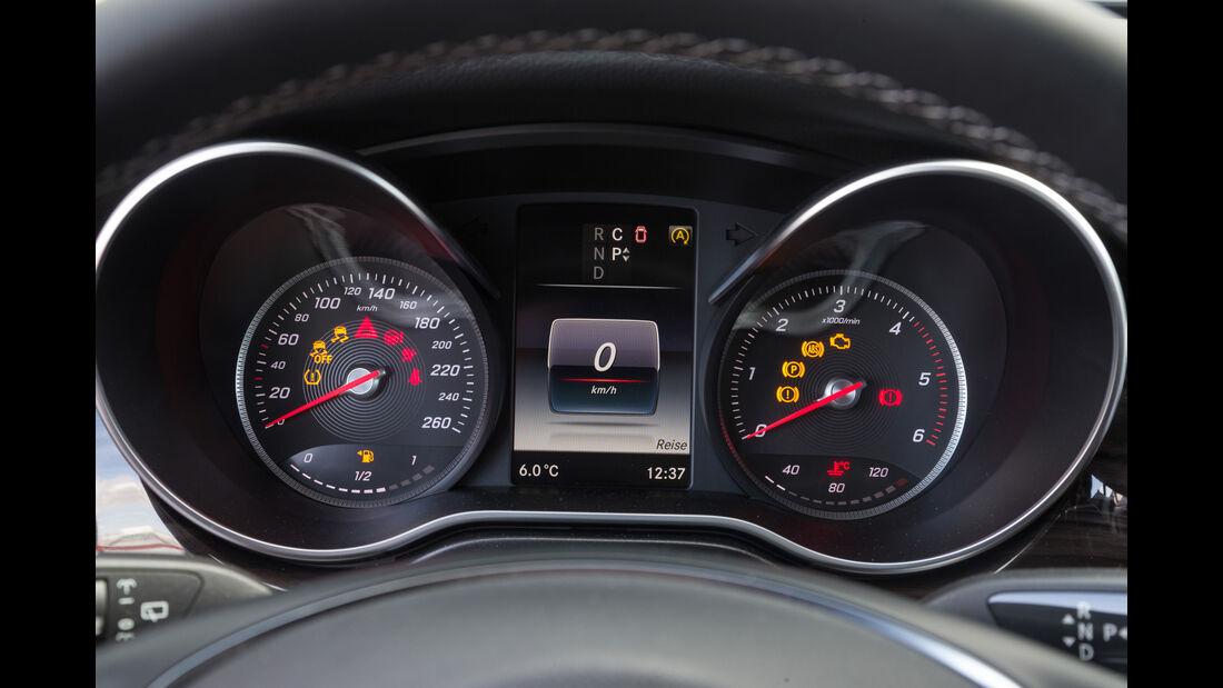 Mercedes V 250 d 4Matic lang, Rundinstrumente