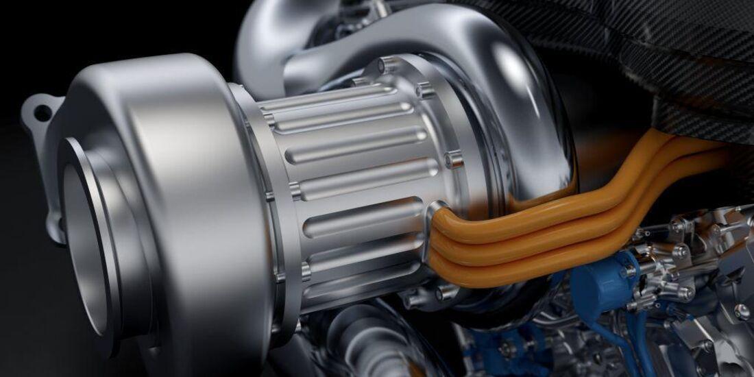 Mercedes V& Turbo Motor 2014