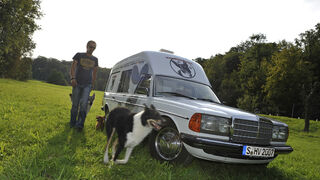 Mercedes VF123 E28 Binz KTW, Frontansicht