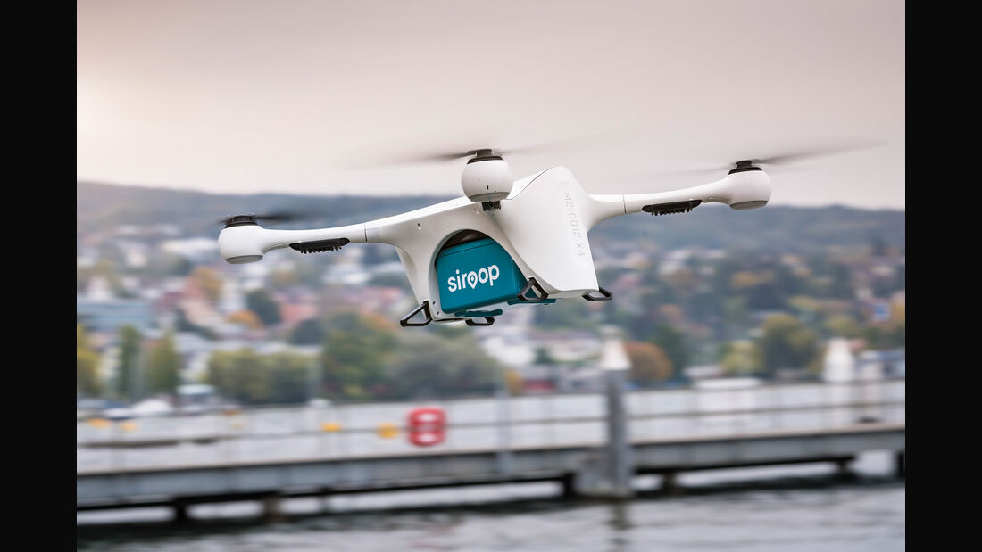 Mercedes Vans and Drones Pilotprojekt Zürich 2017